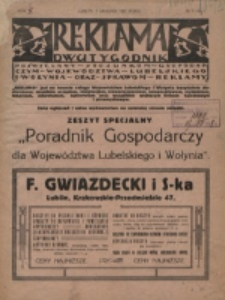 Reklama. R. 1, nr 5/6/7 (1921)