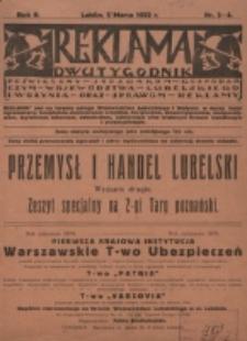 Reklama. R. 2, nr 3/4 (1922)