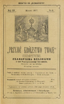 Przyjdź Królestwo Twoje Eucharystyczne. R. 3, nr 3 (1897)