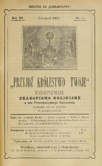 Przyjdź Królestwo Twoje Eucharystyczne. R. 3, nr 11 (1897)