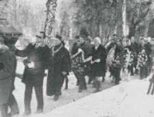 Pogrzeby zmarłych pracowników KUL : pogrzeb prof. Wacława Staszewskiego, + 3.III.1970