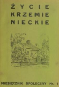 Życie Krzemienieckie. R. 8, nr 1 (1939)