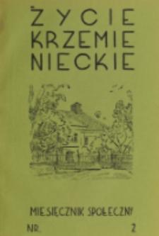 Życie Krzemienieckie. R. 8, nr 2 (1939)