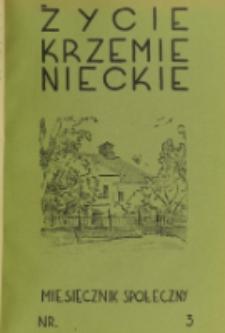 Życie Krzemienieckie. R. 8, nr 3 (1939)