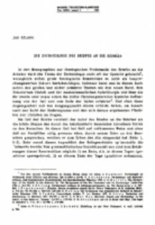 Die Eschatologie des Briefes an die Hebräer.