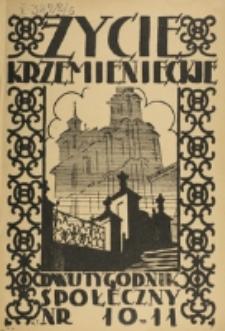 Życie Krzemienieckie. R. 6, nr 10/11 (1937)