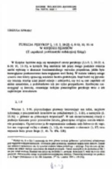 Funkcja perykop 2, 1-5; 2, 20-22; 6, 8-10; 10,11-16 w Księdze Sędziów (Z zagadnień problematyki redakcyjnej Księgi).