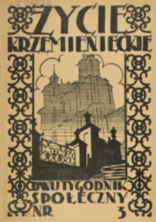 Życie Krzemienieckie. R. 6, nr 3 (1937)