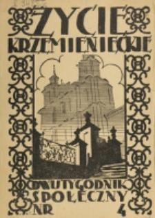 Życie Krzemienieckie. R. 6, nr 4 (1937)