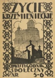 Życie Krzemienieckie. R. 6, nr 5/6 (1937)