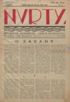 Nurty : organ studentów KUL. R. 2, nr 4 (1933)