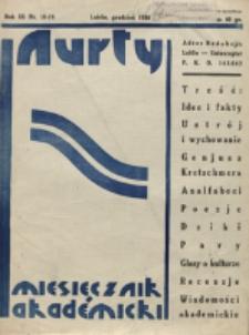 Nurty : organ studentów KUL. R. 3, nr 18/19 (1934)
