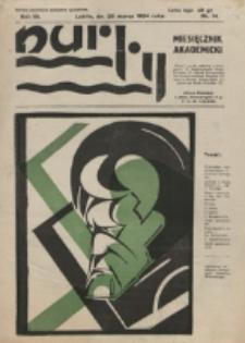 Nurty : organ studentów KUL. R. 3, nr 14 (1934)