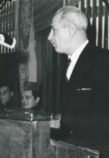 Inauguracja roku akademickiego 1971/72, 24.X : w imieniu Zarządu Głównego TP KUL przemawia mec. A. Jurkiewicz