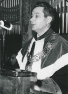 Inauguracja roku akademickiego 1971/72, 24.X : przemawia prorektor doc. Stefan Sawicki