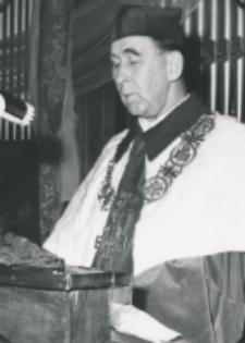 Inauguracja roku akademickiego 1971/72, 24.X : przemawia rektor p. prof. Mieczysław Krąpiec