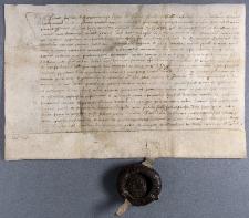 Dokument Piotra Firleja z Dąbrowicy i Piotra Pszonki z Babina z 1499 r.
