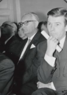 Inauguracja roku akad. 1969/70 : pos. K. Łubieński, prezes A. Mazurkiewicz (TP KUL Warszawa), A. Wierzbicki - przewodniczący ZSP.