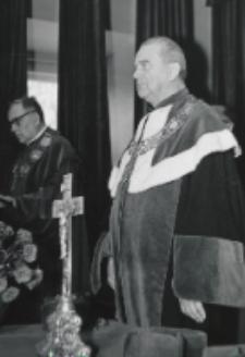 Inauguracja roku akad. 1969/70 : przemawia rektor ks. prof. W. Granat.