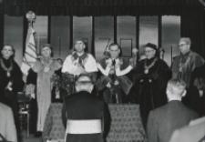 Inauguracja roku akad. 1970/71 : Senat Akademicki w auli.
