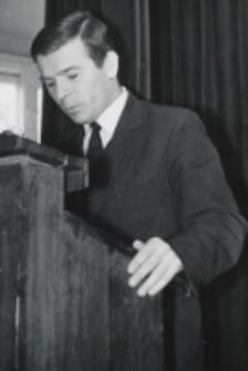 Inauguracja roku akad. 1969/70 : przemawia przewodniczący ZSP A. Wierzbicki.
