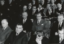 Inauguracja roku akad. 1970/71 : goście oficjalni - profesorowie KUL.