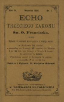 Echo Trzeciego Zakonu Św. o. Franciszka. R. 4, nr 3 (1886)