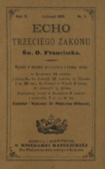 Echo Trzeciego Zakonu Św. o. Franciszka. R. 4, nr 5 (1886)