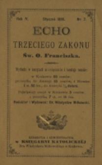 Echo Trzeciego Zakonu Św. o. Franciszka. R. 4, nr 7(1886)