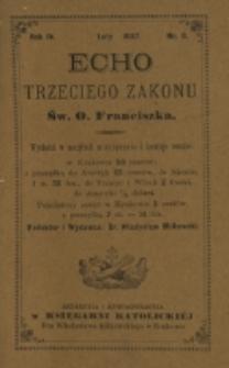 Echo Trzeciego Zakonu Św. o. Franciszka. R. 4, nr 8 (1887)
