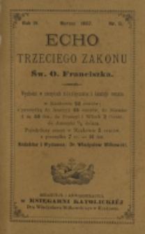 Echo Trzeciego Zakonu Św. o. Franciszka. R. 4, nr 9 (1887)