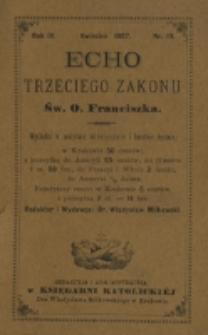 Echo Trzeciego Zakonu Św. o. Franciszka. R. 4, nr 10 (1887)