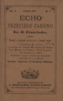 Echo Trzeciego Zakonu Św. o. Franciszka. R. 5, nr 5 (1887)