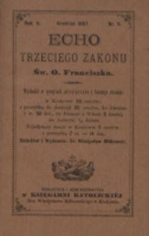 Echo Trzeciego Zakonu Św. o. Franciszka. R. 5, nr 6 (1887)
