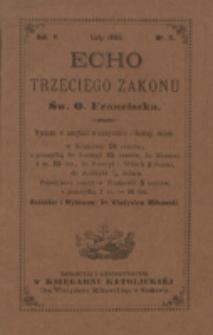 Echo Trzeciego Zakonu Św. o. Franciszka. R. 5, nr 8 (1888)