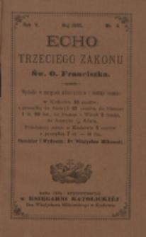 Echo Trzeciego Zakonu Św. o. Franciszka. R. 5, nr 11 (1888)