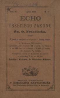Echo Trzeciego Zakonu Św. o. Franciszka. R. 6, nr 1 (1888)