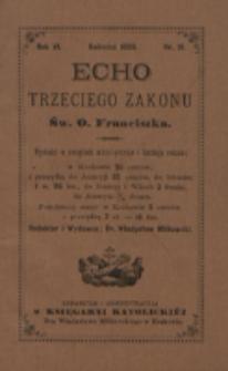 Echo Trzeciego Zakonu Św. o. Franciszka. R. 6, nr 10 (1889)
