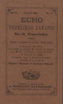 Echo Trzeciego Zakonu Św. o. Franciszka. R. 6, nr 12 (1889)