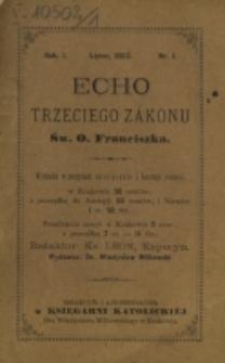 Echo Trzeciego Zakonu Św. o. Franciszka. R. 1, nr 1 (1883)