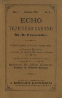 Echo Trzeciego Zakonu Św. o. Franciszka. R. 1, nr 6 (1883/1884)