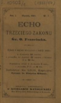 Echo Trzeciego Zakonu Św. o. Franciszka. R. 1, nr 7 (1884)