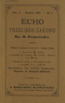 Echo Trzeciego Zakonu Św. o. Franciszka. R. 2, nr 3 (1884)