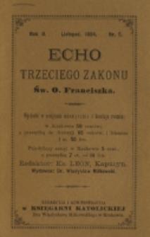 Echo Trzeciego Zakonu Św. o. Franciszka. R. 2, nr 5 (1884)