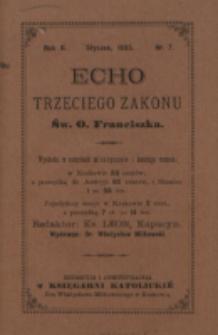 Echo Trzeciego Zakonu Św. o. Franciszka. R. 2, nr 7 (1885)