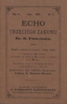 Echo Trzeciego Zakonu Św. o. Franciszka. R. 2, nr 8 (1885)