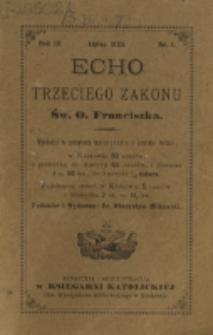 Echo Trzeciego Zakonu Św. o. Franciszka. R. 3, nr 1 (1885)