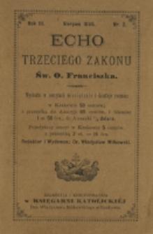 Echo Trzeciego Zakonu Św. o. Franciszka. R. 3, nr 2 (1885)
