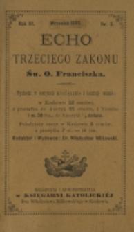 Echo Trzeciego Zakonu Św. o. Franciszka. R. 3, nr 3 (1885)