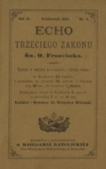 Echo Trzeciego Zakonu Św. o. Franciszka. R. 3, nr 4 (1885)